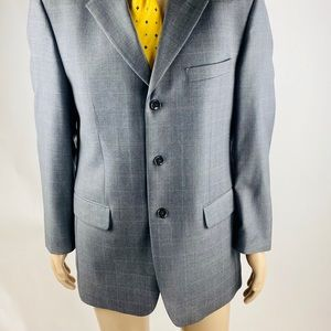 Jones New York Suits & Blazers - Jones New York 40R Sport Coat Blazer Gray Plaid